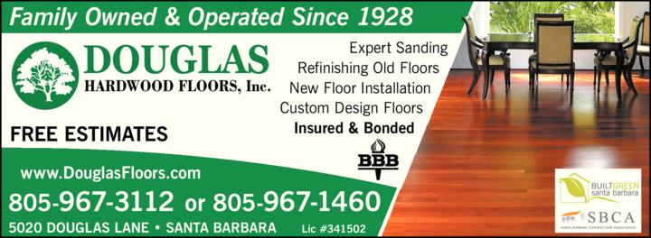 Yellow Pages Ad of Douglas Hardwood Floors Inc