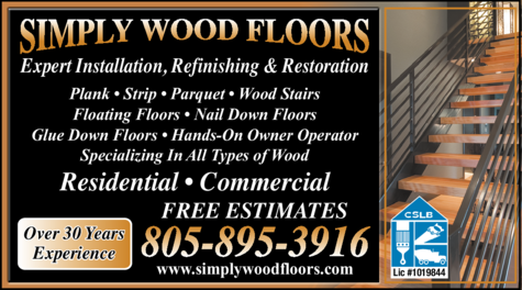 Yellow Pages Ad of Simply Wood Floors