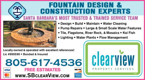 Yellow Pages Ad of Clearview Waterscape Design & Installation