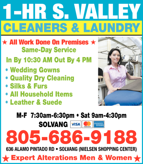 Yellow Pages Ad of 1-Hr S Valley Cleaners & Laundry