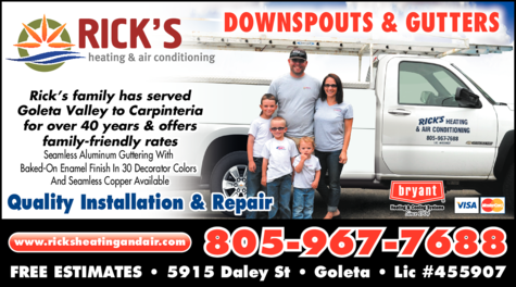 Yellow Pages Ad of Rick's Heating & Air Conditioning Inc