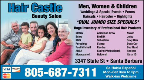 Yellow Pages Ad of Hair Castle Beauty Salon
