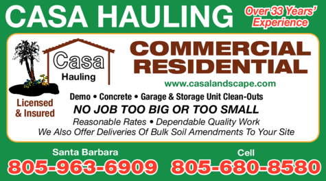 Yellow Pages Ad of Casa Hauling
