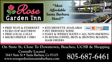 Yellow Pages Ad of Rose Garden Inn