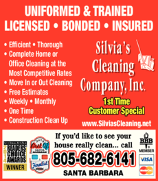 Yellow Pages Ad of Silvia's Cleaning Company Inc