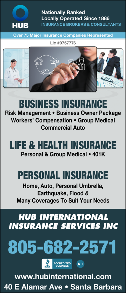 Yellow Pages Ad of Hub International Insurance Services Inc