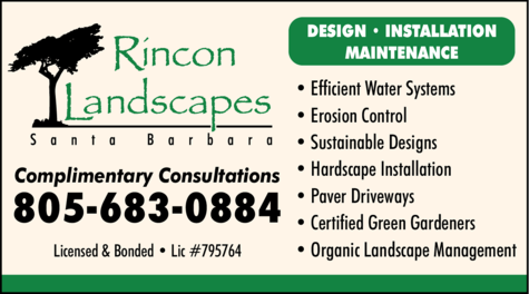 Yellow Pages Ad of Rincon Landscapes