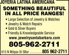 Yellow Pages Ad of Joyeria Latina Americana