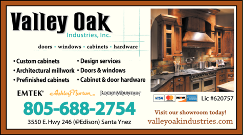 Yellow Pages Ad of Valley Oak Industries