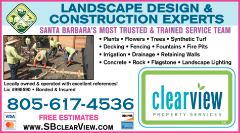 Yellow Pages Ad of Clearview Landscape Design & Installation
