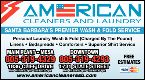 Yellow Pages Ad of American Cleaners & Laundry