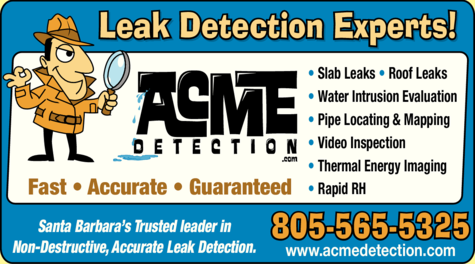 Yellow Pages Ad of Acme Leak Detection