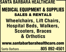 Yellow Pages Ad of Santa Barbara Healthcare