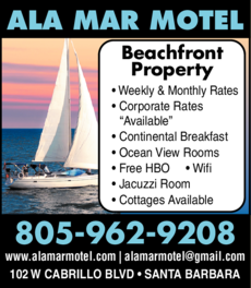 Yellow Pages Ad of Ala Mar Motel