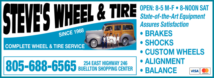 Yellow Pages Ad of Steve's Wheel & Tire