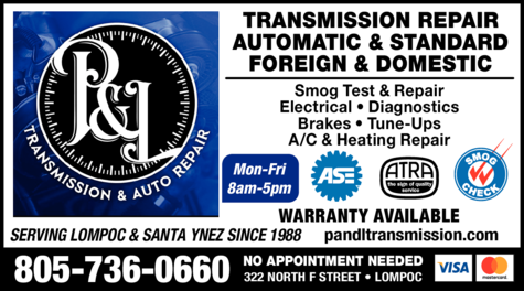 Yellow Pages Ad of P & L Transmissions