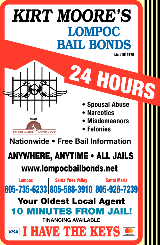 Yellow Pages Ad of Lompoc Bail Bonds