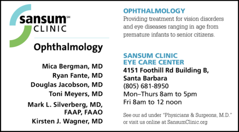 Yellow Pages Ad of Sansum Clinic - Elings Eye Center