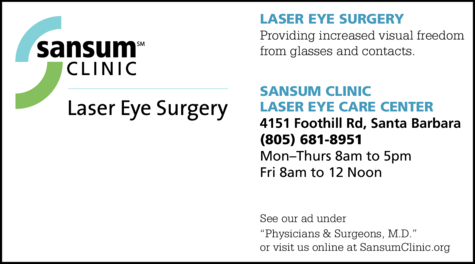 Yellow Pages Ad of Sansum Clinic - Laser Eye Surgery