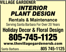 Yellow Pages Ad of Village Gardener