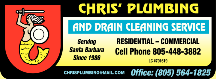 Yellow Pages Ad of Chris' Plumbing & Drain Cleaning Service