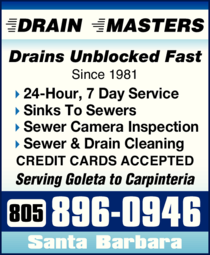Yellow Pages Ad of Drain Masters