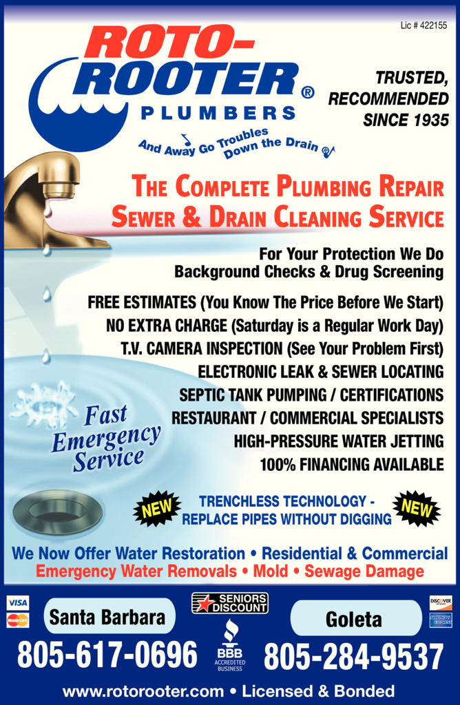 Yellow Pages Ad of Roto-Rooter Plumbing & Drain Service