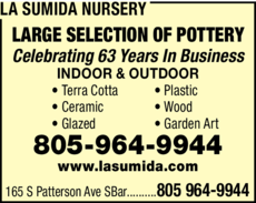 Yellow Pages Ad of La Sumida Nursery