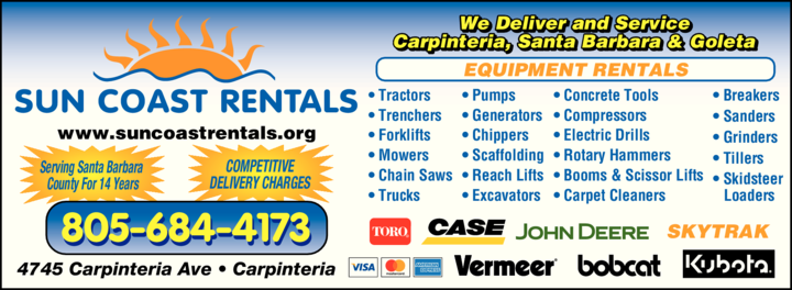 Yellow Pages Ad of Sun Coast Rentals