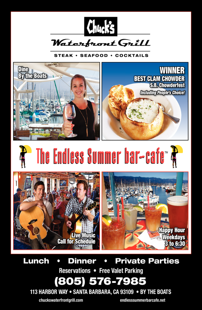 Yellow Pages Ad of The Endless Summer Bar - Cafe