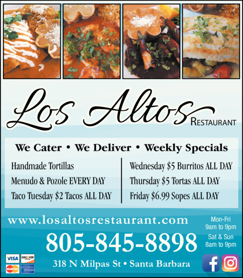 Yellow Pages Ad of Los Altos Restaurant