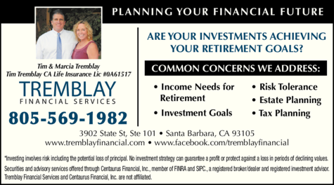 Yellow Pages Ad of Tremblay Financial Services