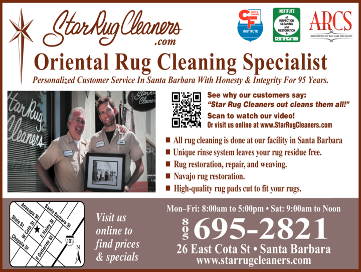 Yellow Pages Ad of Star Rug Cleaners