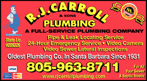 Yellow Pages Ad of Carroll R J & Sons Plumbing