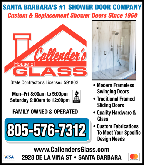 Print Ad of Callender's House Of Glass