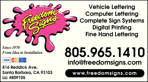Yellow Pages Ad of Freedom Signs