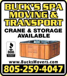 Yellow Pages Ad of Buck's Spa Moving & Transport