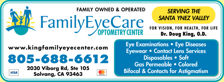 Yellow Pages Ad of Family Eye Care