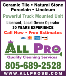 Yellow Pages Ad of All Pro Quality Cleaning Services