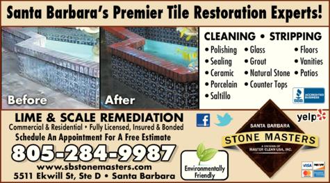 Yellow Pages Ad of Santa Barbara Stone Masters