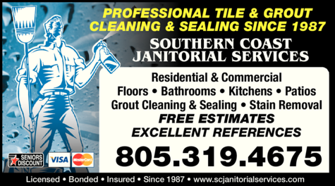 Yellow Pages Ad of Southern Coast Janitorial