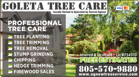 Yellow Pages Ad of Goleta Tree Care