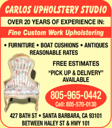 Yellow Pages Ad of Carlos Upholstery Studio