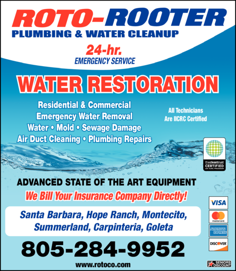 Yellow Pages Ad of Roto-Rooter Water Cleanup