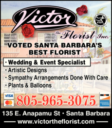 Yellow Pages Ad of Victor The Florist Inc