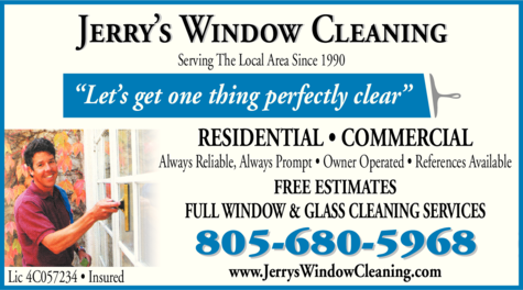Yellow Pages Ad of Jerry's Window Cleaning