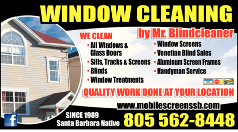 Yellow Pages Ad of Mr Blindcleaner - Window Cleaning