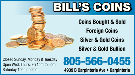 Yellow Pages Ad of Bill's Coins