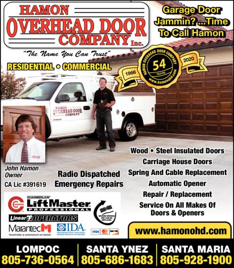 Yellow Pages Ad of Hamon Overhead Door Co