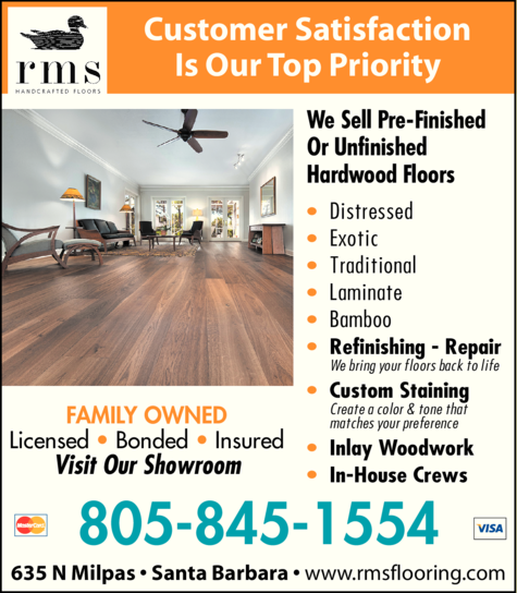 Yellow Pages Ad of Rms Handcrafted Floors